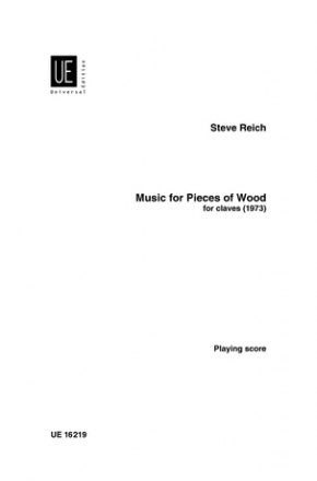 Music for pieces of wood for 5 pairs of tuned wooden mallets score