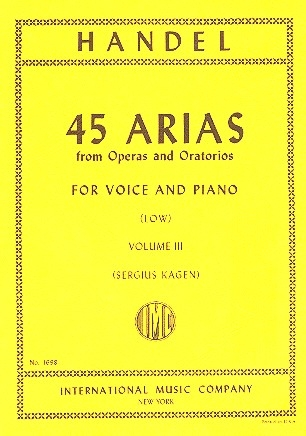 45 Arias from Operas and Oratorios vol.3 - for low voice and piano