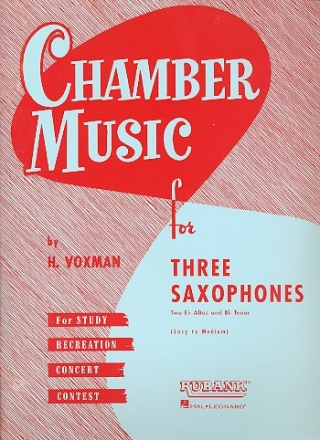 Chamber Music - for 3 saxophones score