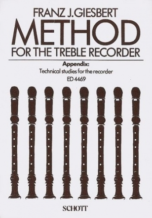 Method for the treble recorder (en) - with technical studies