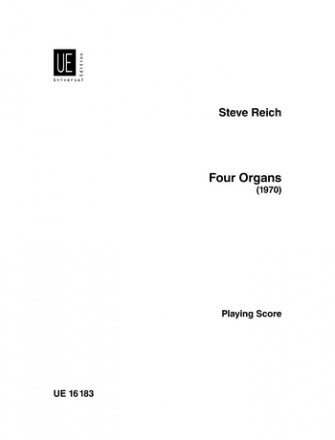 Four Organs for 4 electric organs and maracas playing-score