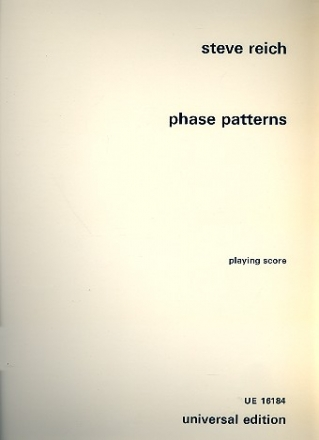 Phase patterns for four electric organs, playing score