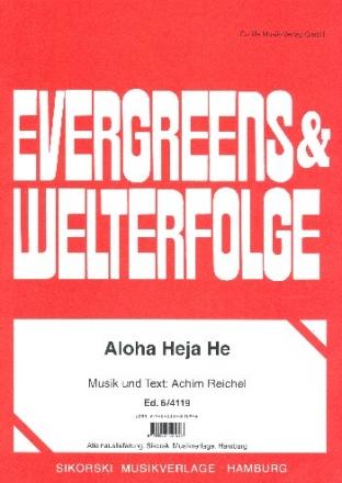 Aloha heja he: Gesang und Klavier Einzelausgabe