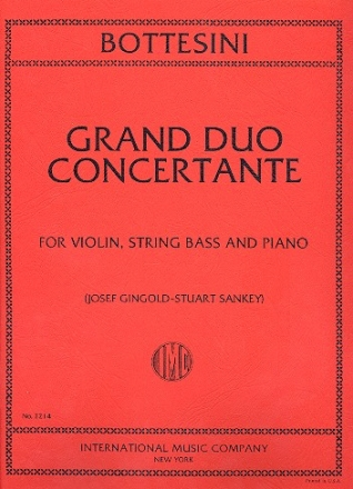 Grand Duo concertant for violin, string bass and piano