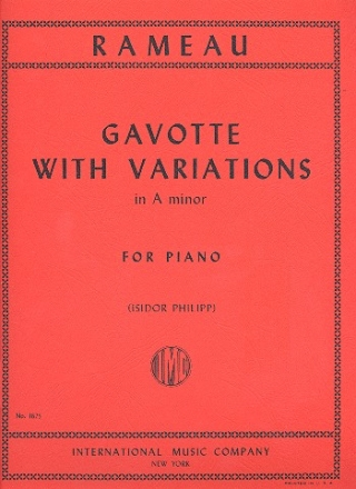 Gavotte with Variations a Minor for piano