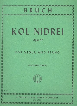 Kol nidrei op.47 - for viola and piano