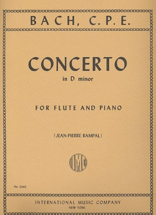 Concerto d minor for flute and orchestra - for flute and piano