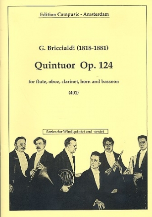 Quintuor op.124 - for flute, oboe, clarinet, horn and bassoon score and parts