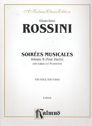 Soirees Musicales vol.2 - 4 Duets for 2 sopranos and piano (fr/it) Serate musicali