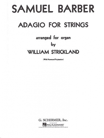 Adagio for strings for organ