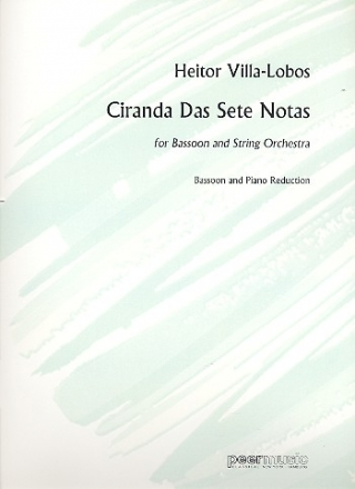 Ciranda das sete notas for bassoon and strings for bassoon and piano