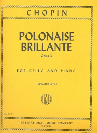 Polonaise brillante op.3 for cello and piano Rose, L., ed.