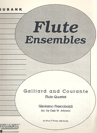 Galliard and courante for 4 flutes score and parts