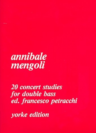 20 Concert Studies - for double bass
