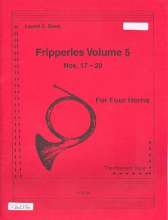 Fripperies vol.5 (nos.17-20) for 4 horns score and parts