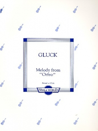Melody from Orfeo for viola and piano