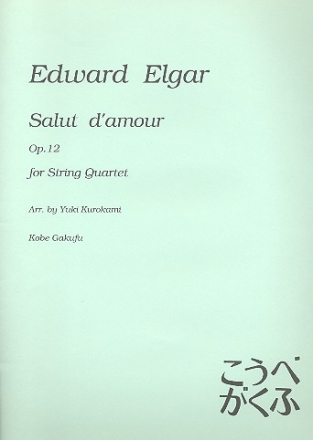 Salut d'amour op.12 for string quartet score and parts