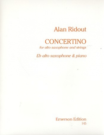 Concertino for alto saxophone and Strings - for alto sax and piano