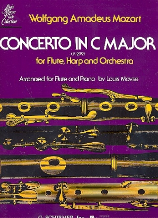 Concerto c major KV299 for flute, harp and orchestra - for flute and piano