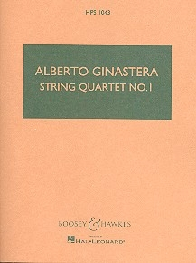String quartet no.1 op.20 study score