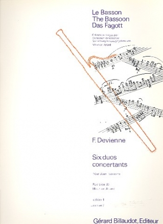6 duos concertants vol.2 op.3 (4-6) - pour 2 bassons partition