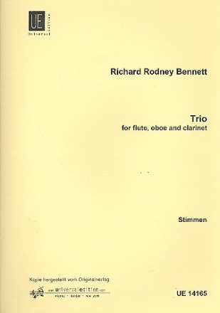Trio for flute, oboe and clarinet parts,  archive copy