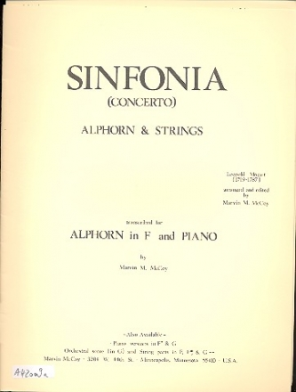 Concerto for Alphorn and Strings - Alphorn and piano