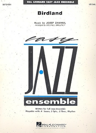 Birdland: for jazz ensemble score and parts
