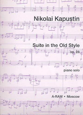 Suite in the old style op.28 - for piano solo