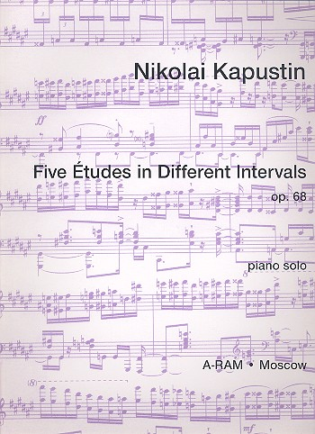 5 etudes in different intervals op.68 - for piano solo