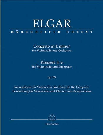 Concerto e minor op.85 for violoncello and orchestra - for violoncello and piano