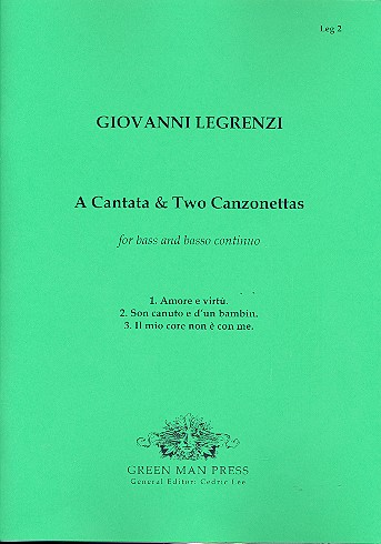 A cantata and 2 canzonettas for bass and bc