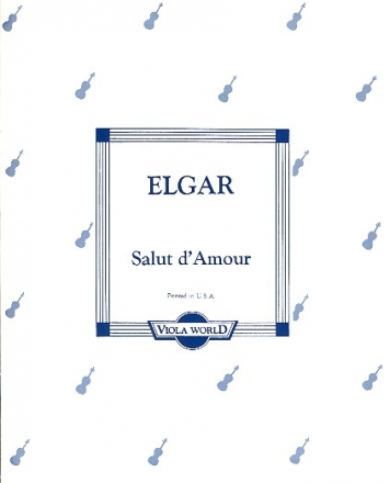Salut d'Amour - for viola and piano