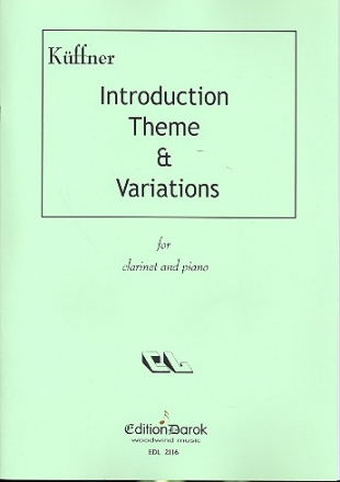 Introduction, Theme und Variations - for clarinet and piano