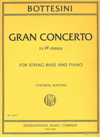 Gran Concerto f sharp minor for string bass and piano