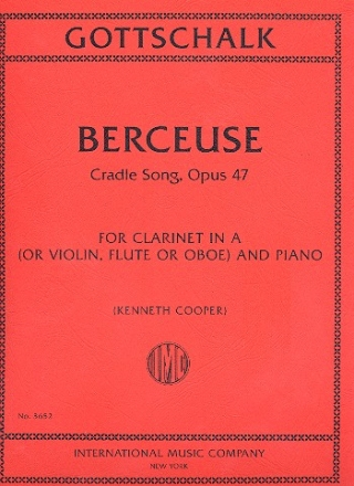 Berceuse op.47 for clarinet in A (violin/ flute/oboe) and piano