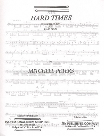 Hard Times - for snare drum