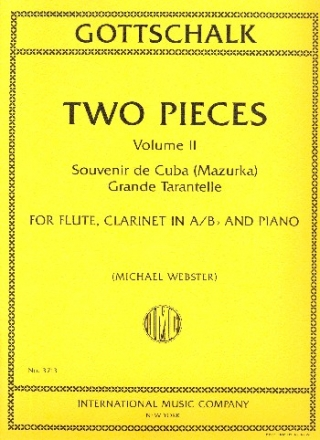 2 Pieces vol.2 for flute, clarinet and piano parts