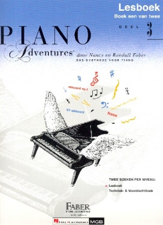 Piano Adventures vol.3 - lesboek (nl)