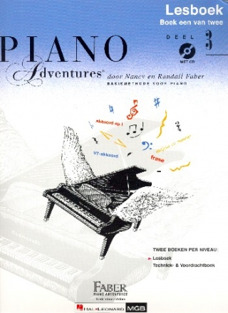 Piano Adventures vol.3 (+CD) - lesboek (nl)