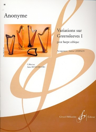 Variations sur Greensleeves vol.1 pour harpe celtique
