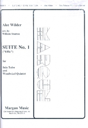 Suite no.1 for tuba solo, flute, oboe, clarinet, horn and bassoon score and parts,  archive copy