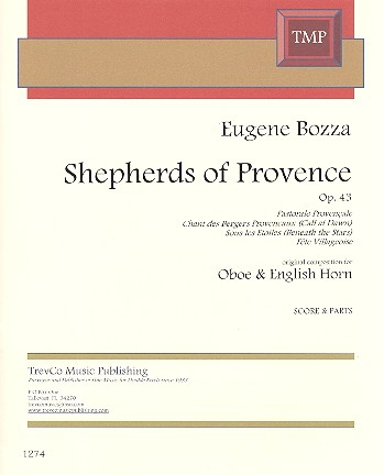 Shepherds of Provence op.43 for oboe and English horn score and parts