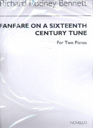 Fanfare on a 16th Century Tune for two pianos 2 scores,  archive copy