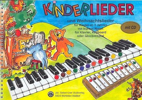 Glockenspiel Weihnachtslieder Noten Kostenlos.Kinderlieder Und Weihnachtslieder Mit Bunten Noten Cd Für Klavier Keyboard Glockenspiel Mit Texten Und Akkorden
