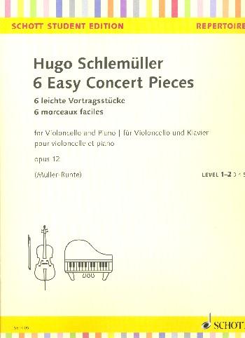 Etüdenschule Schlemüller für Violoncello neue Ausgabe in 2 Bänden Band 2