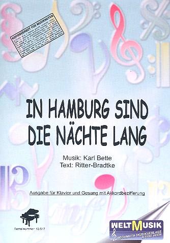 in hamburg sind die n chte lang f r klavier mit text und akkorden. Black Bedroom Furniture Sets. Home Design Ideas