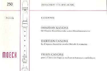13 kanons f r 2 sopranblockfl ten notenlager notenversand noten online kaufen. Black Bedroom Furniture Sets. Home Design Ideas