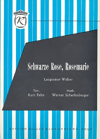 schwarze rose rosemarie einzelausgabe gesang und klavier notenlager notenversand noten. Black Bedroom Furniture Sets. Home Design Ideas