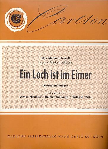 Ein Loch ist im Eimer - Einzelausgabe Gesang und Klavier